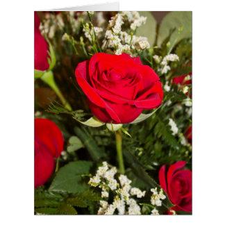Cartão Foto do buquê das rosas vermelhas Vazio-Dentro do