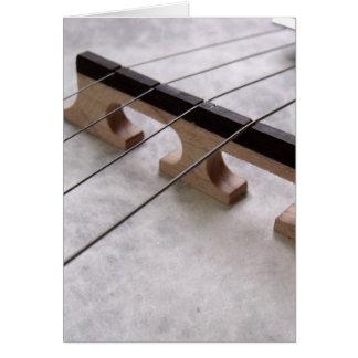 Cartão Foto do close up do banjo