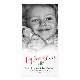 Cartão Foto do costume do roteiro do amor da paz da