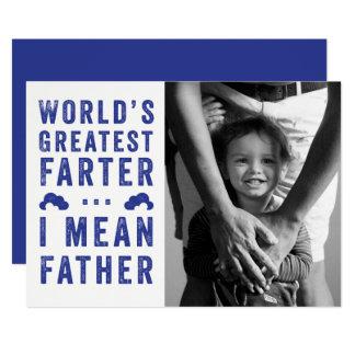 Cartão Foto do dia dos pais do Farter do mundo a grande