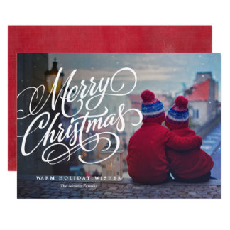 Cartão Foto do feriado da folha de prova do Feliz Natal