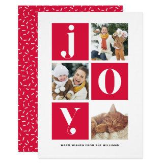 Cartão Foto do feriado da foto da tipografia moderna da