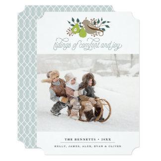 Cartão Foto do feriado da perdiz e da pera
