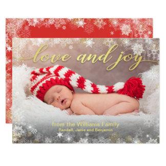 Cartão Foto do feriado do amor e da alegria com beira do