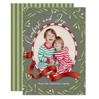 Cartão Foto do feriado do conforto e da alegria