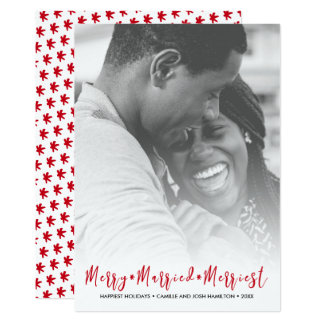 Cartão Foto do feriado do Natal o mais alegre do recem