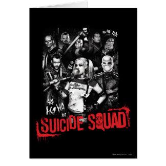 Cartão Foto do grupo do Grunge do pelotão | do suicídio
