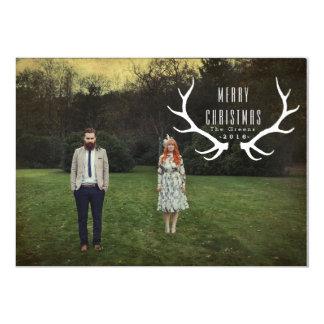 Cartão Foto do Natal dos Antlers | do hipster