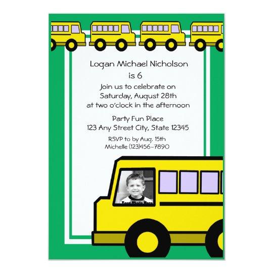 Cartão Foto do ônibus de escola