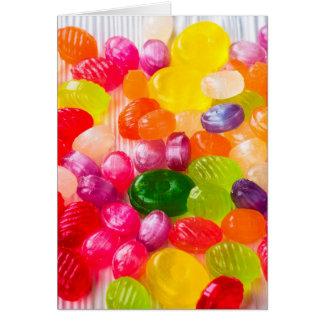 Cartão Foto doce colorida engraçada do pirulito da comida