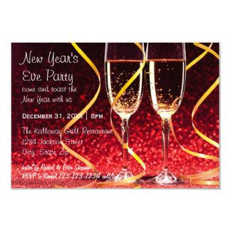 Cartão Foto dos vidros de Champagne - partido da véspera