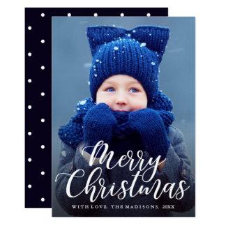 Cartão Foto EDITÁVEL do feriado do Feliz Natal da COR