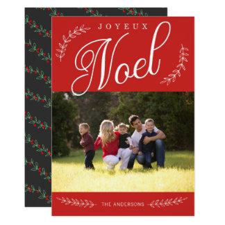 Cartão Foto EDITÁVEL do Natal de Joyeux Noel da cor