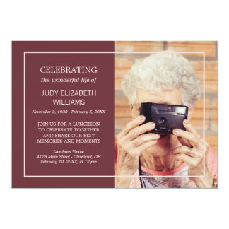 Cartão Foto feita sob encomenda de comemoração mínima