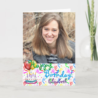 Cartão Foto feita sob encomenda do feliz aniversario