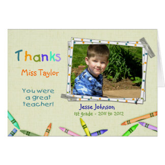 Cartão Foto feita sob encomenda do professor dos