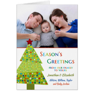 Cartão Foto feita sob encomenda/nomes da árvore colorida