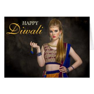 Cartão Foto feliz personalizada folha de prova de Diwali