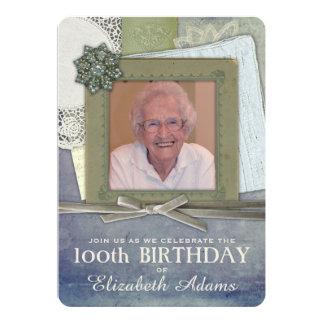 Cartão Foto feminino antiga do costume da colagem