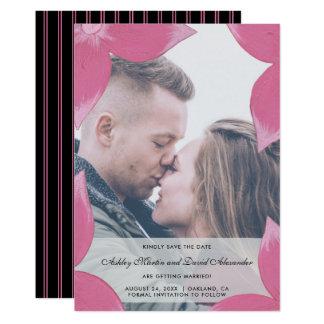 Cartão Foto floral do rosa elegante da folha de prova com