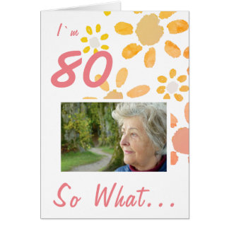 Cartão foto inspirador do aniversário do 80