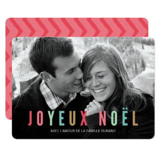 Cartão Foto | Joyeux Noel de de noël dos cartes