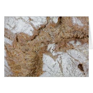 Cartão Foto macro da superfície do pão de mistura