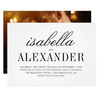 Cartão Foto minimalista | da tipografia & do costume que