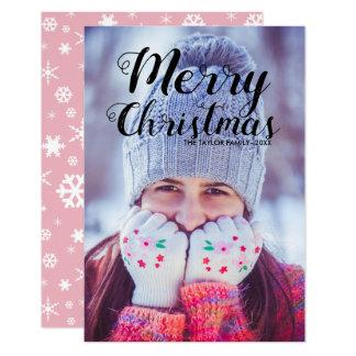 Cartão Foto moderna bonito do texto | do Feliz Natal do