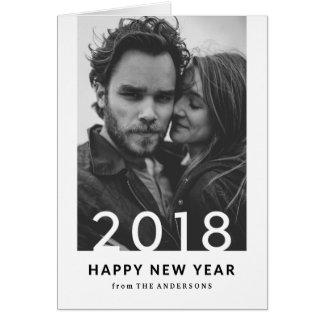 Cartão Foto moderna do feriado do ano novo de 2018% pipe%