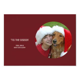 Cartão Foto moderna minimalista simples vermelha do