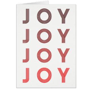 Cartão Foto moderna retro do feriado da alegria |
