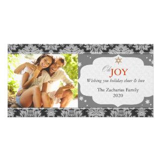 Cartão Foto monótonos na moda simples do Natal