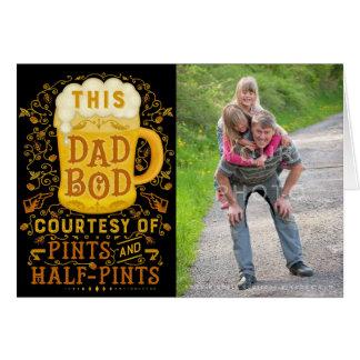 Cartão Foto personalizada do corpo do pai do dia dos pais
