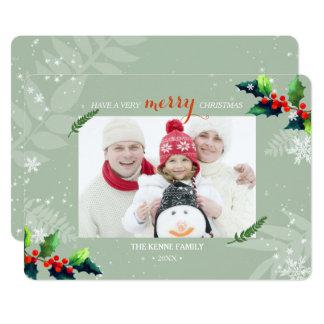 Cartão Foto Playfully alegre do feriado da baga