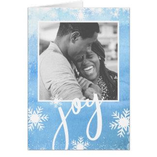 Cartão Foto pura do feriado do floco de neve da aguarela