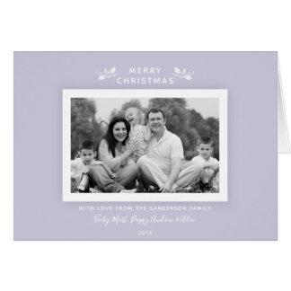 Cartão Foto roxa do feriado do Lilac moderno mínimo