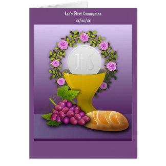 Cartão Foto santamente personalizada do Eucaristia do