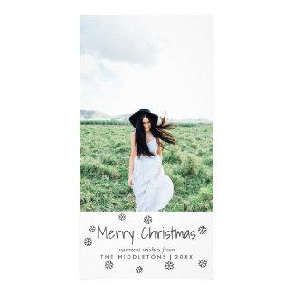 Cartão Foto simples do feriado do roteiro do Feliz Natal