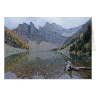 Cartão Foto vazia de Agnes do lago Banff da reflexão da