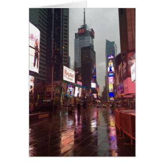Cartão Fotografia chuvosa da Nova Iorque NYC do Times