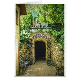 Cartão Fotografia da natureza das cavernas do Fairyland