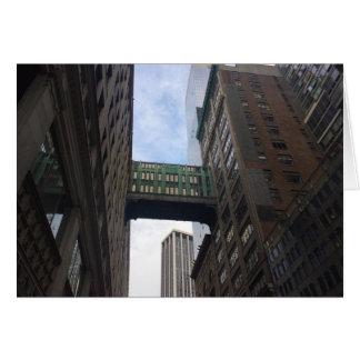 Cartão Fotografia da Nova Iorque NYC da ponte do céu de