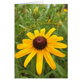 Cartão Fotografia de Susan de olhos pretos e de botão