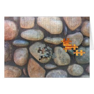Cartão Fotografia do Fim-Acima da parede da rocha do rio