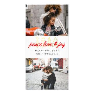 Cartão Fotos vermelhas do roteiro dois do amor & da