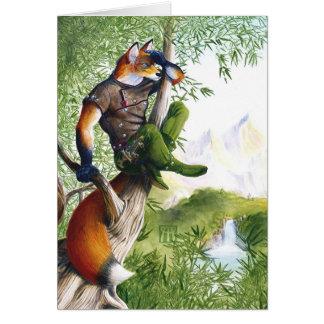 Cartão Fox de ardência da fuga