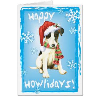 Cartão Fox liso feliz Terrier de Howliday