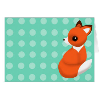 Cartão Fox Notelet da polca