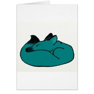 Cartão Fox sonolento